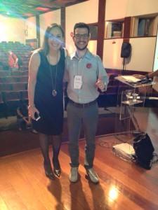 Bruno Lacerda e Martha Gabriel durante Encontro Locaweb, edição Belo Horizonte.